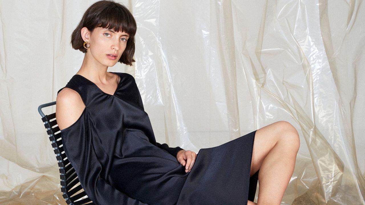 ÁERON sliced shoulder dress