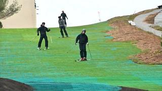 Video | Çöp işleme tesisinde kayak keyfi