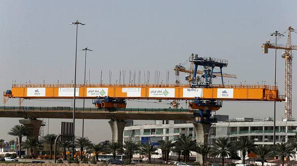 موقع إنشاء بمشروع مترو الرياض