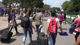 Menekülő venezuelaiak között