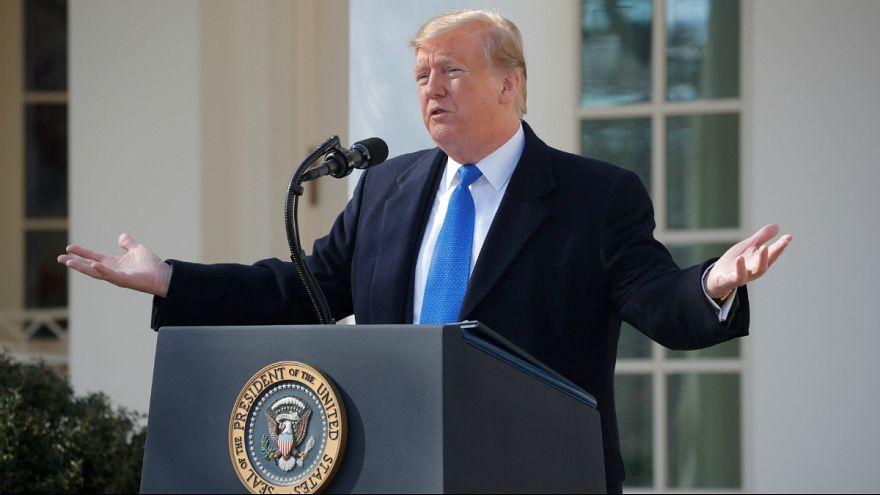 ترامپ با اعلام وضعیت اضطراری بر ساخت دیوار در مرز با مکزیک تاکید کرد