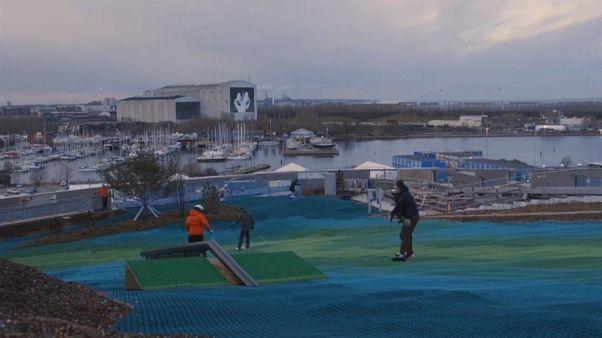 مسار للتزلج على مواد اصطناعية وسط كوبنهاغن