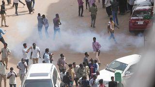 جانب من المظاهرات في السودان