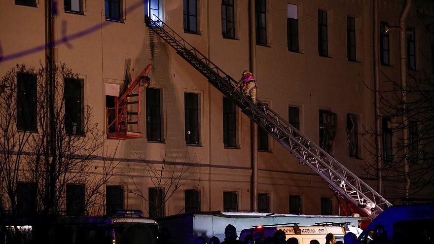 Обрушение крыши в петербургском университете