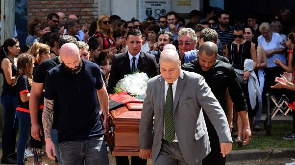 Funeral in Argentina for Premiership football player Emiliano Sala