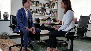 Juan Guiado talks with Euronews' Anelise Borges