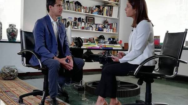 Juan Guiado talks with Euronews' Anelise Borges