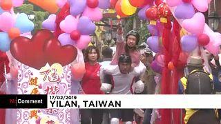 تایوان؛ جشن سال نو و مسابقۀ ویژۀ زوجها