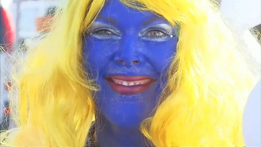 Smurf fans sets new world record