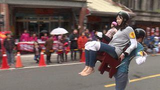 سباق حمل الزوجات في تايوان