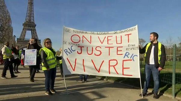 Tres meses de chalecos amarillos contra Macron