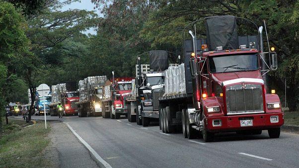 Venezuela'ya gönderilen yardım malzemeleri