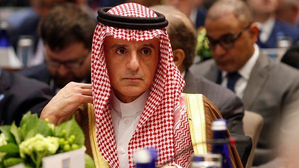 الجبير في مؤتمر الحلفاء المنخرطين في الحرب ضد تنظيم الدولة الإسلامية