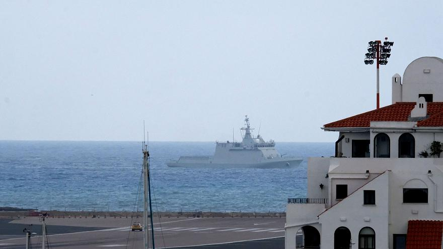 Tensions flare up as Spanish warship orders boats move from UK-controlled Gibraltar waters