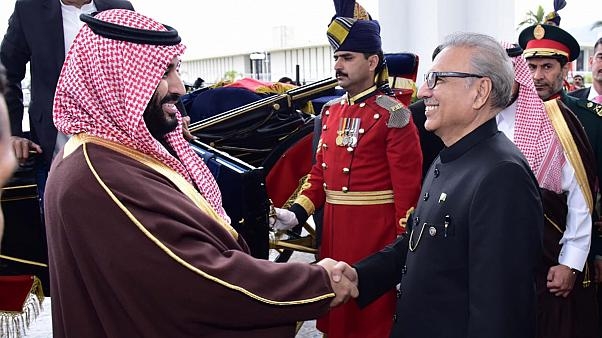 رئيس باكستان عارف ألفي مرحباً بولي العهد السعودي محمد بن سلمان