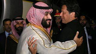 دیدار عمران خان نخست وزیر پاکستان و محمد بن سلمان ولیعهد عربستان