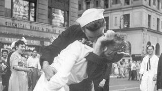 George Mendonza kisses Greta Zimmer Friedman