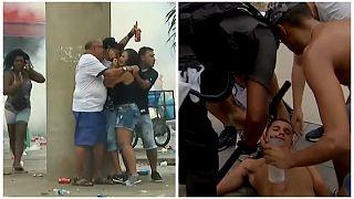 شاهد: أعمال عنف تفسد أجواء نهائي كأس غوانابارا البرازيلي