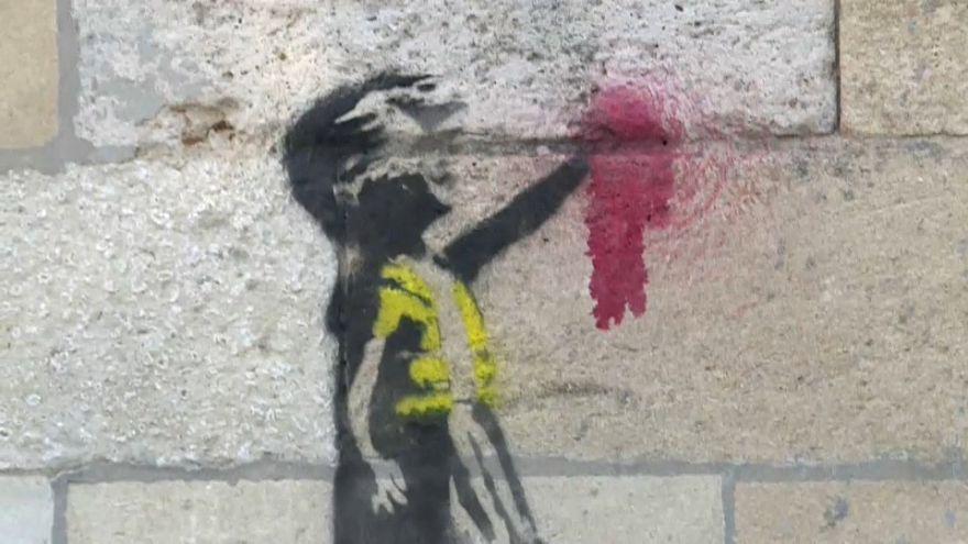 Banksy soutien des gilets jaunes?