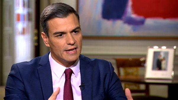 """Pedro Sánchez: """"Los independentistas catalanes tienen pavor a sentarse a dialogar"""""""