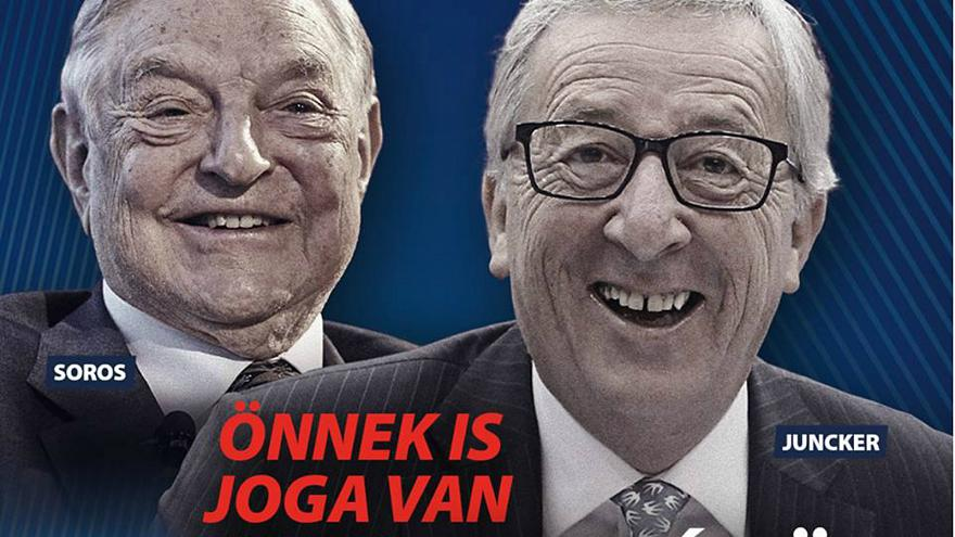 Hungary takes aim at EU's Jean-Claude Juncker in new campaign poster