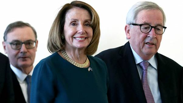 Watch again: US Speaker of the House Nancy Pelosi speaks in Brussels after meeting with EU officials