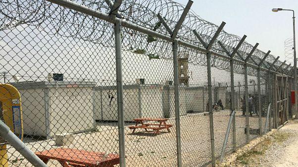 نمایی از یکی از اردوگاههای پناهجویان در یونان