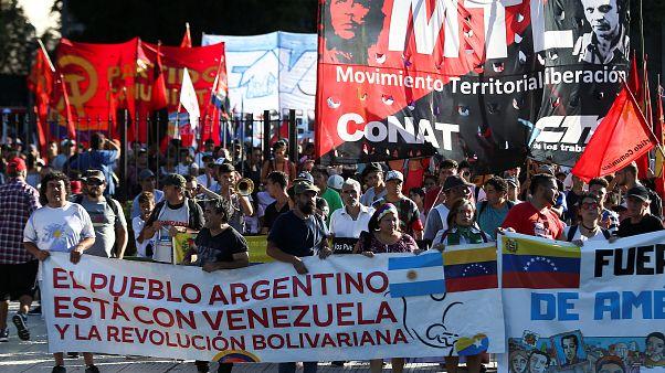 """""""Янки, отправляйтесь домой"""": акция в поддержку Мадуро в Буэнос-Айресе"""