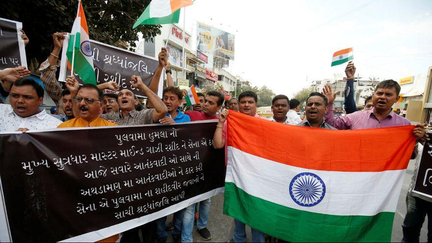 تظاهرات در هند علیه پاکستان