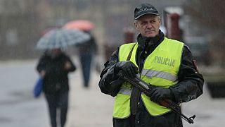 مامور پلیس در شهر برادینا در بوسنی
