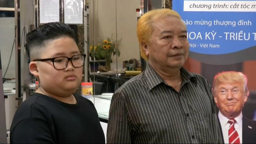 آرایش موی رایگان به سبک ترامپ و کیمجونگ اون در ویتنام