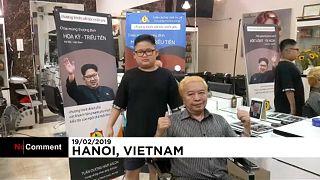 Kim Dzsongun frizurája és Trump hajszíne a sláger Vietnámban