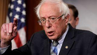 El senador estadounidense Bernie Sanders en Washington. 30 de enero, 2019.
