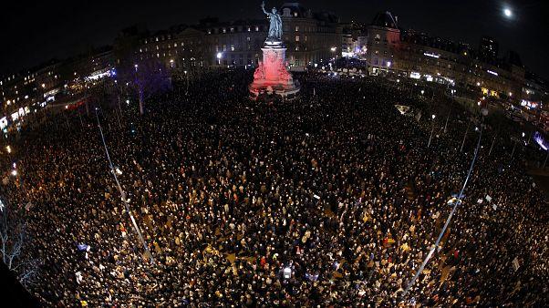 Во Франции прошли акции протеста против антисемитизма