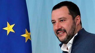 El ministro del Interior italiano Matteo Salvini en Roma, Italia. 2019.