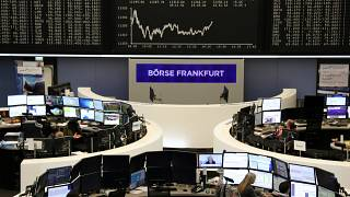 German share price index DAX graph at the stock exchange in Frankfurt