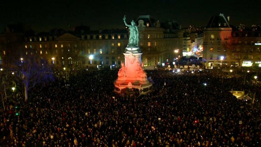 Hetven francia városban tüntettek az antiszemitizmus ellen