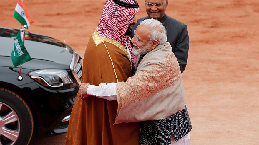رئيس الوزراء الهندي مودي مرحباً ببن سلمان