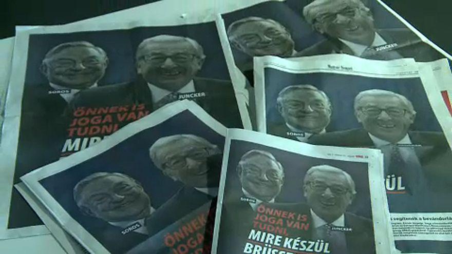 Junckerrel plakátolta tele az országot a kormány