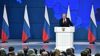 ولادیمیر پوتین، رئیس جمهوری روسیه در سخنرانی سالانه در پارلمان این کشور