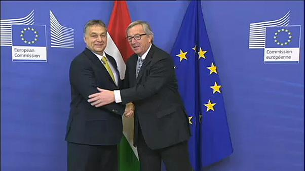 Raw Moment: Jean-Claude Juncker and Viktor Orban in happier times