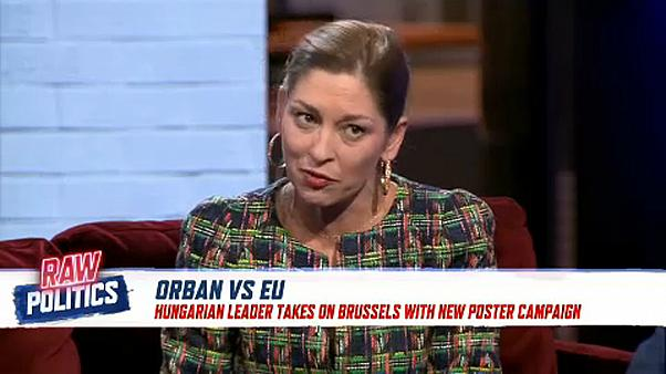 Raw Politics: Orban takes aim at Juncker in poster campaign
