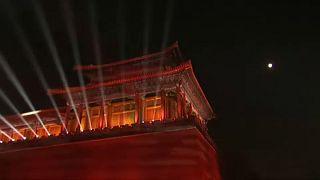 Spektakel zum Ende des chinesischen Neujahrsfestes
