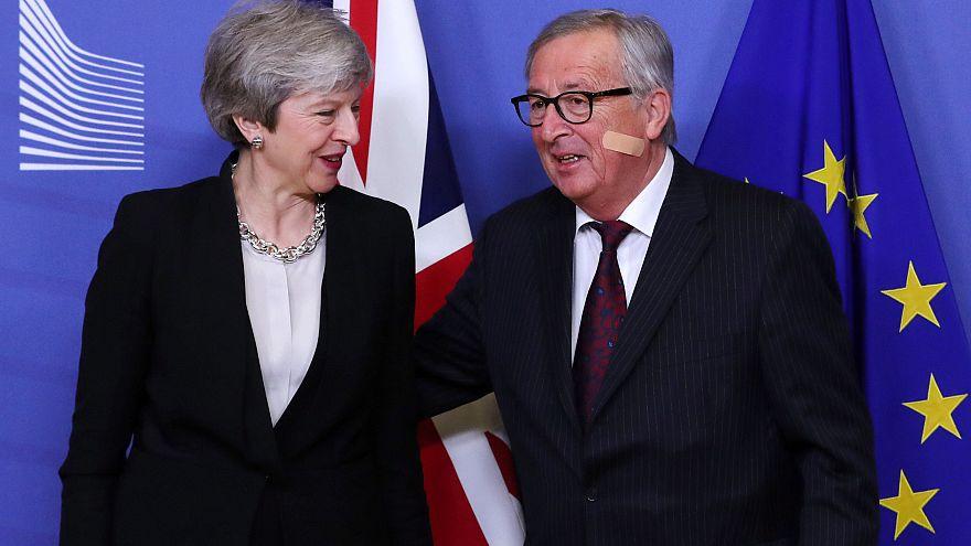 "Entretien ""constructif"" entre Theresa May et Jean-Claude Juncker"
