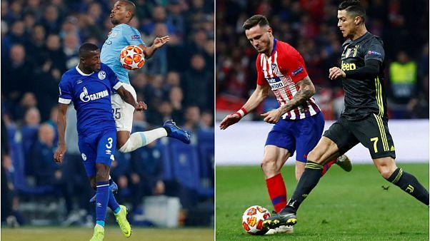 Şampiyonlar Ligi: Atletico'dan Juventus'a şok 2-0, Manchester City'den efsane geri dönüş 2-3