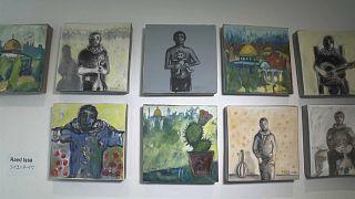 شاهد: فنانون من غزة يعرضون أعمالهم في يوكوهاما اليابانية