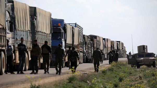 IŞİD militanları ve aileleri, Irak güvenlik güçlerine teslim edildi