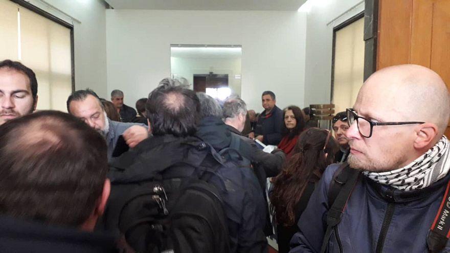 Εισβολή των εργαζομένων της ΠΟΕ - ΟΤΑ στο Υπουργείο Οικονομικών