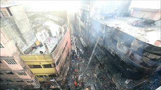 ساختمانهای داکا، پایتخت بنگلادش در کام آتش