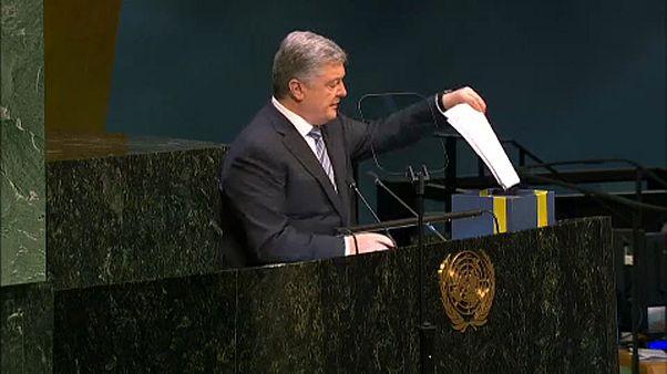 UN: Poroschenko übergibt Petition zur Freilassung Gefangener